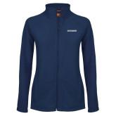 Ladies Fleece Full Zip Navy Jacket-Charleston Southern Buccaneers