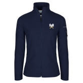Columbia Ladies Full Zip Navy Fleece Jacket-Primary Athletic Mark