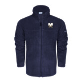 Columbia Full Zip Navy Fleece Jacket-CSU-Swords Logo