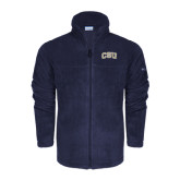 Columbia Full Zip Navy Fleece Jacket-CSU Arched