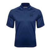 Navy Textured Saddle Shoulder Polo-CSU-Swords Logo