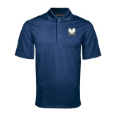 Navy Mini Stripe Polo-CSU-Swords Logo