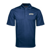 Navy Mini Stripe Polo-Charleston Southern Arched