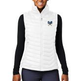 Columbia Lake 22 Ladies White Vest-Primary Athletic Mark