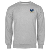 Grey Fleece Crew-Primary Athletic Mark