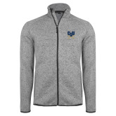 Grey Heather Fleece Jacket-Primary Athletic Mark