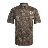 Camo Short Sleeve Performance Fishing Shirt-CSU-Swords Logo