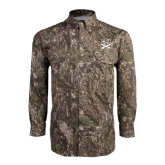 Camo Long Sleeve Performance Fishing Shirt-CSU-Swords Logo