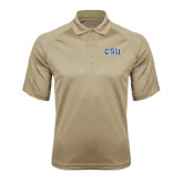 Vegas Gold Textured Saddle Shoulder Polo-CSU Arched
