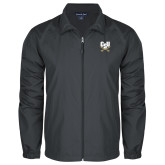 Full Zip Charcoal Wind Jacket-Primary Athletic Mark