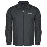 Full Zip Charcoal Wind Jacket-Charleston Southern Buccaneers