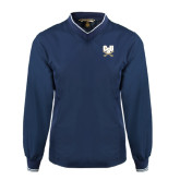 Navy Executive Windshirt-CSU-Swords Logo