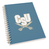 Clear 7 x 10 Spiral Journal Notebook-CSU-Swords Logo