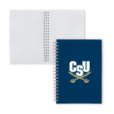 Clear 7 x 10 Spiral Journal Notebook-Primary Athletic Mark