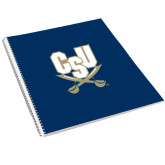 College Spiral Notebook w/Clear Coil-CSU-Swords Logo