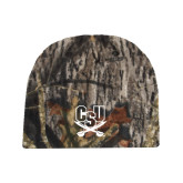 Mossy Oak Camo Fleece Beanie-CSU-Swords Logo