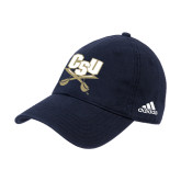 Adidas Navy Slouch Unstructured Low Profile Hat-CSU-Swords Logo