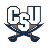 Medium Magnet-CSU-Swords Logo, 8 in Tall
