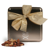 Deluxe Nut Medley Gold Medium Tin-CSU-Swords Logo Engraved