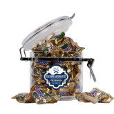 Snickers Satisfaction Round Canister-CSU-Swords Logo