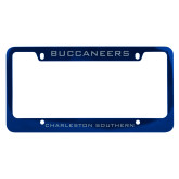 Metal Blue License Plate Frame-Buccaneers