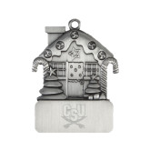 Pewter House Ornament-CSU-Swords Logo Engraved