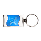 Silverline Blue Wave Key Holder-CSU-Swords Logo Engraved