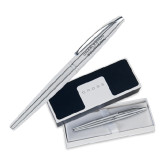 Cross ATX Pure Chrome Roller Ball Pen-Charleston Southern Stacked Engraved