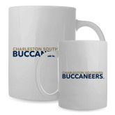 Full Color White Mug 15oz-Charleston Southern Buccaneers