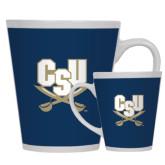 12oz Ceramic Latte Mug-CSU-Swords Logo