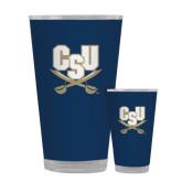 Full Color Glass 17oz-CSU-Swords Logo