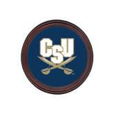 Round Coaster Frame w/Insert-CSU-Swords Logo
