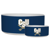 Ceramic Dog Bowl-CSU-Swords Logo