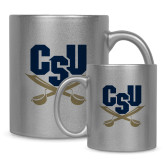 Full Color Silver Metallic Mug 11oz-Primary Athletic Mark