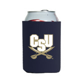 Collapsible Navy Can Holder-CSU-Swords Logo