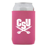 Collapsible Hot Pink Can Holder-Primary Athletic Mark