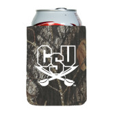 Collapsible Mossy Oak Camo Can Holder-CSU-Swords Logo