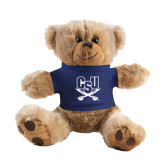 Plush Big Paw 8 1/2 inch Brown Bear w/Navy Shirt-CSU-Swords Logo
