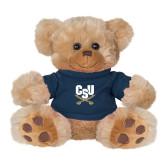 Plush Big Paw 8 1/2 inch Brown Bear w/Navy Shirt-Primary Athletic Mark