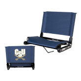 Stadium Chair Navy-CSU-Swords Logo