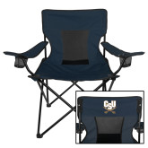 Deluxe Navy Captains Chair-CSU-Swords Logo