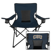 Deluxe Navy Captains Chair-CSU Arched