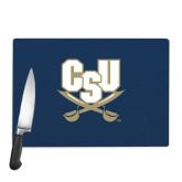 Cutting Board-CSU-Swords Logo