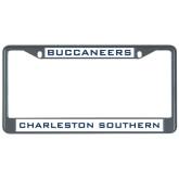 Metal License Plate Frame in Black-Buccaneers