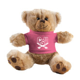 Plush Big Paw 8 1/2 inch Brown Bear w/Pink Shirt-CSU-Swords Logo