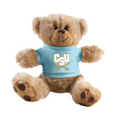 Plush Big Paw 8 1/2 inch Brown Bear w/Light Blue Shirt-CSU-Swords Logo
