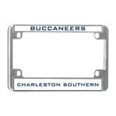Metal Motorcycle License Plate Frame in Chrome-Buccaneers