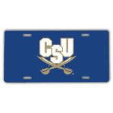 License Plate-CSU-Swords Logo