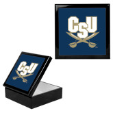 Ebony Black Accessory Box With 6 x 6 Tile-CSU-Swords Logo