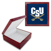 Red Mahogany Accessory Box With 6 x 6 Tile-Primary Athletic Mark